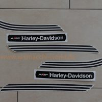 Reproduction Gas Tank Decals for a 1974 SX175/250 with grey/silver gas tank