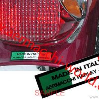 """Rear fender Decal """"Made in Italy by Aermacchi HD"""" (reproduction)"""