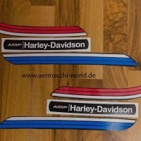 Reproduction Gas Tank Decals for a 1974 SX175/250 with black gas tank