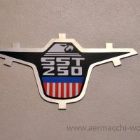 Eagle nameplate for sidecover SST-250 (reproduction)