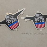 Eagle Nameplate for exhaust heat shield of a SX250 - reproduction - 61189-74P